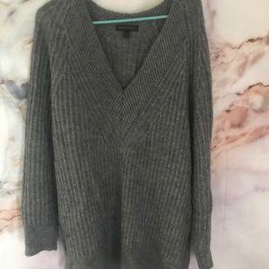 Dark Gray Banana Republic oversized sweater